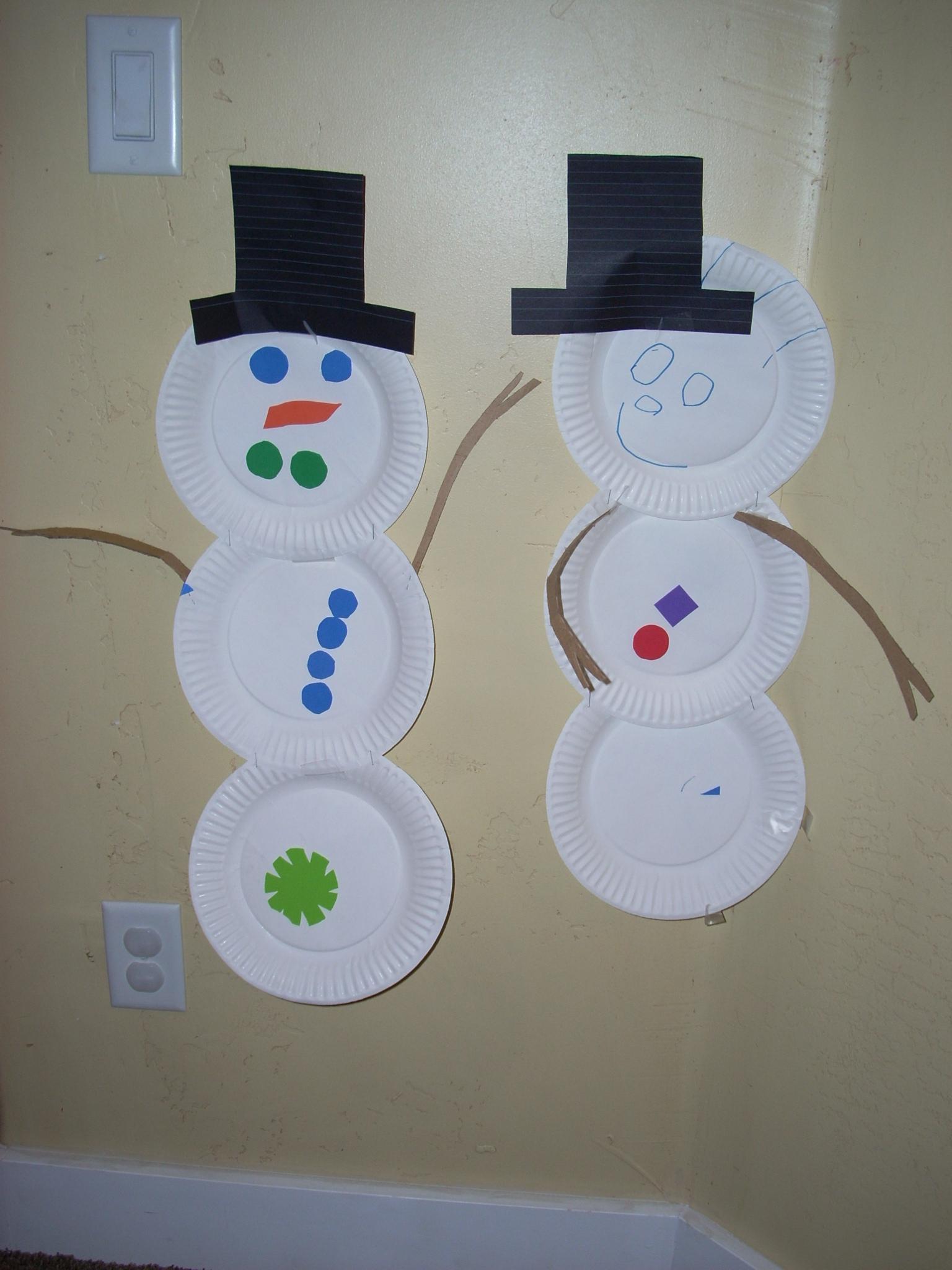 & Paper Plate Snowmen