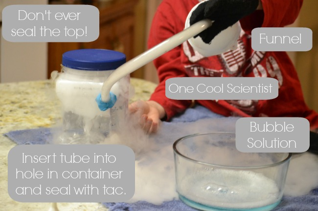 Playful Science: Dry Ice Bubbles