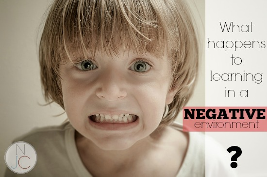 Can kids learn in a negative environment